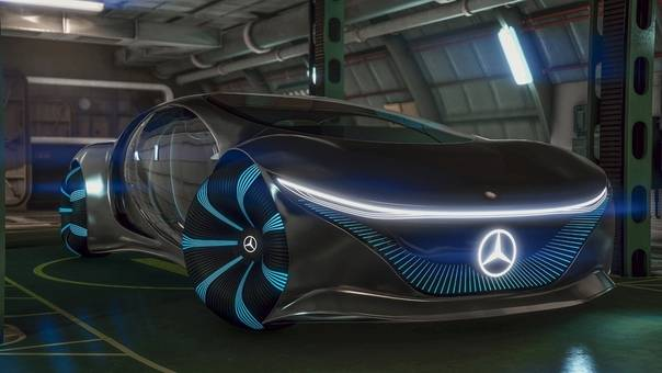 Mercedes-benz представил автомобиль будущего vision avtr из фильма аватар