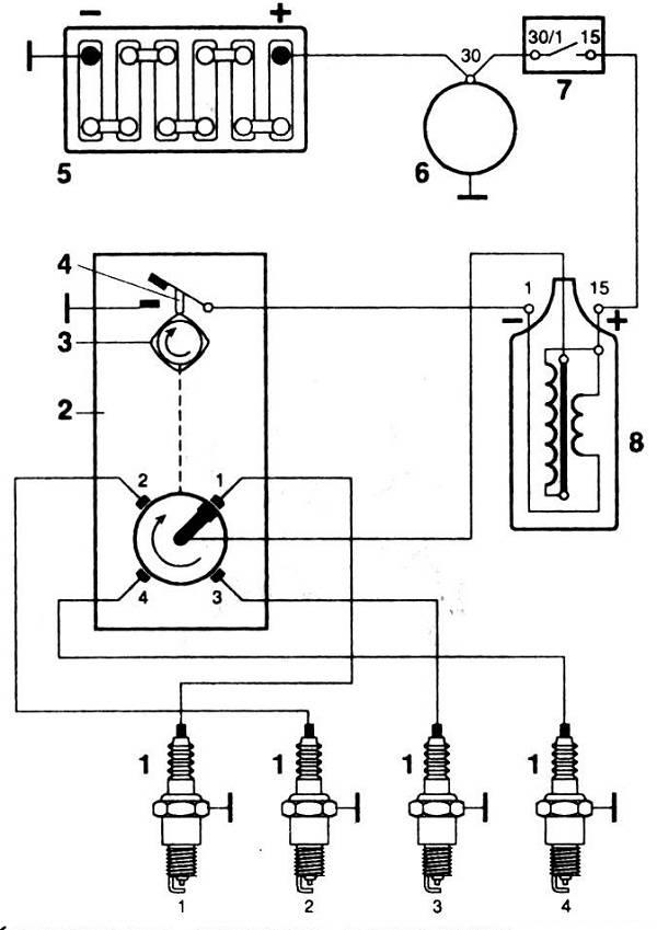 Бесконтактная система зажигания (бсз)
