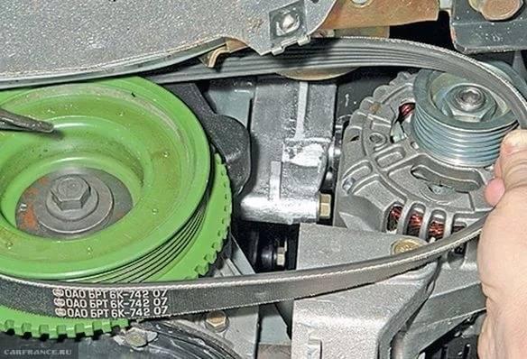 Как подтянуть ремень генератора приора, схема натяжения ремня