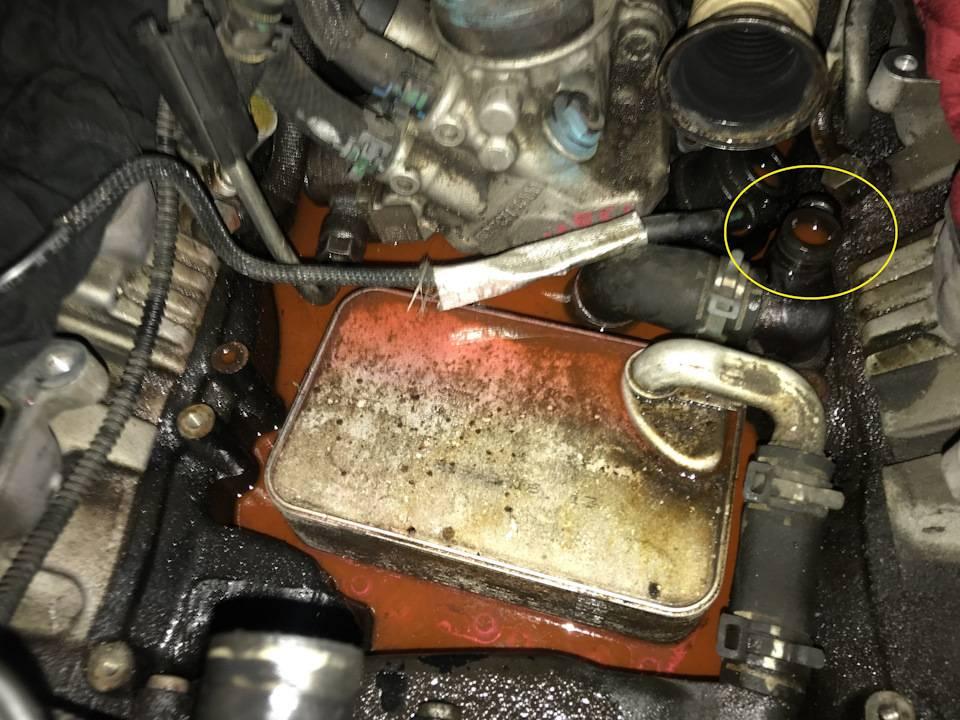 Масло в цилиндре двигателя: причины неисправности