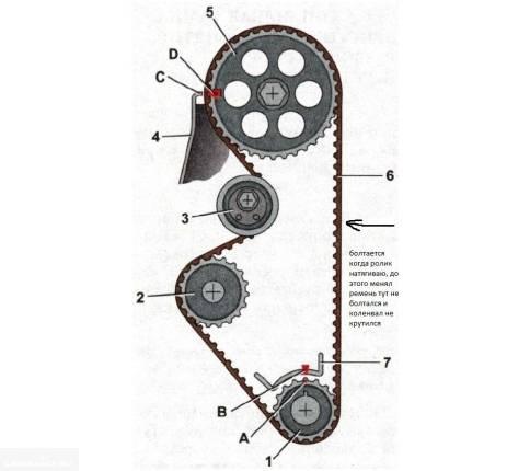 Порядок замены ремня грм на ваз-2109