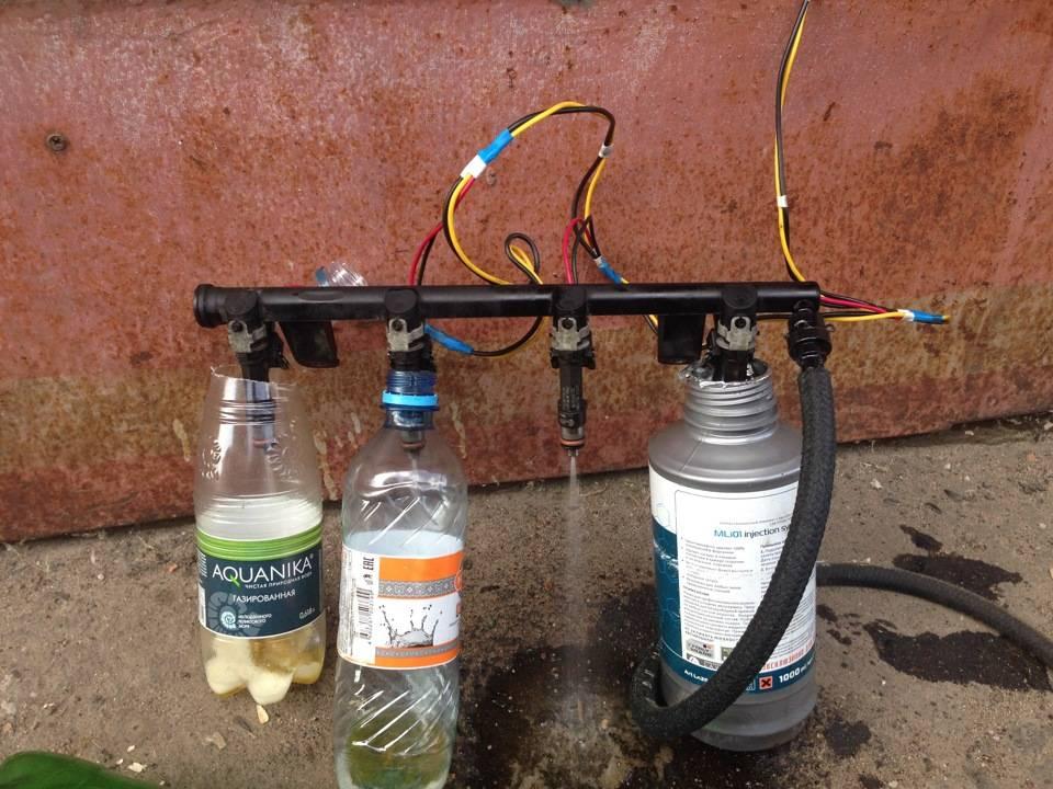 Чистка форсунок инжектора — чем промыть топливные форсунки, как почистить без снятия с двигателя