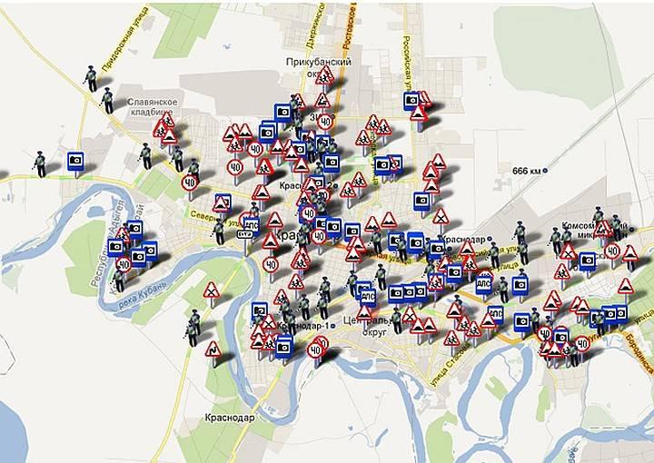 Карта камер гибдд в московском