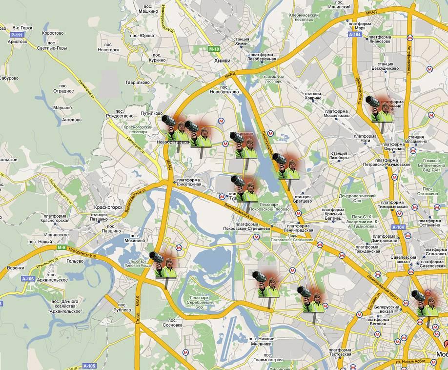 Камеры гибдд в санкт-петербурге на карте 2021