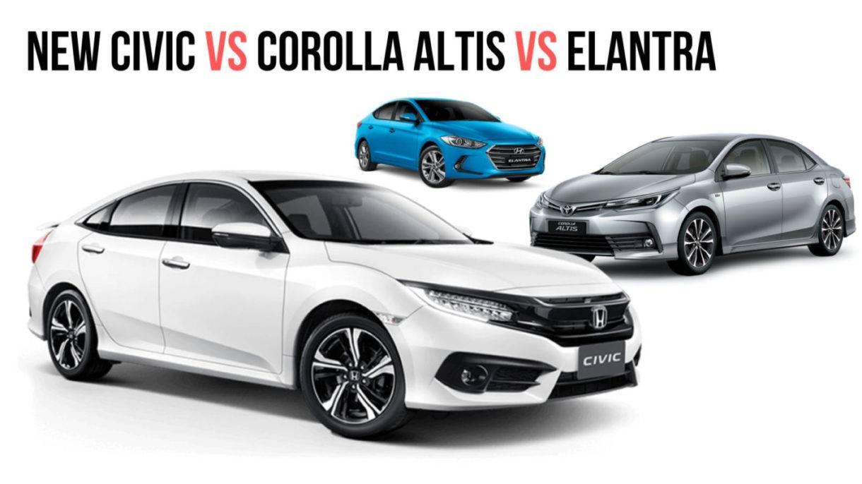 Одна сумма, разные авто: выбираем между Toyota Corolla X и Honda Civic VIII
