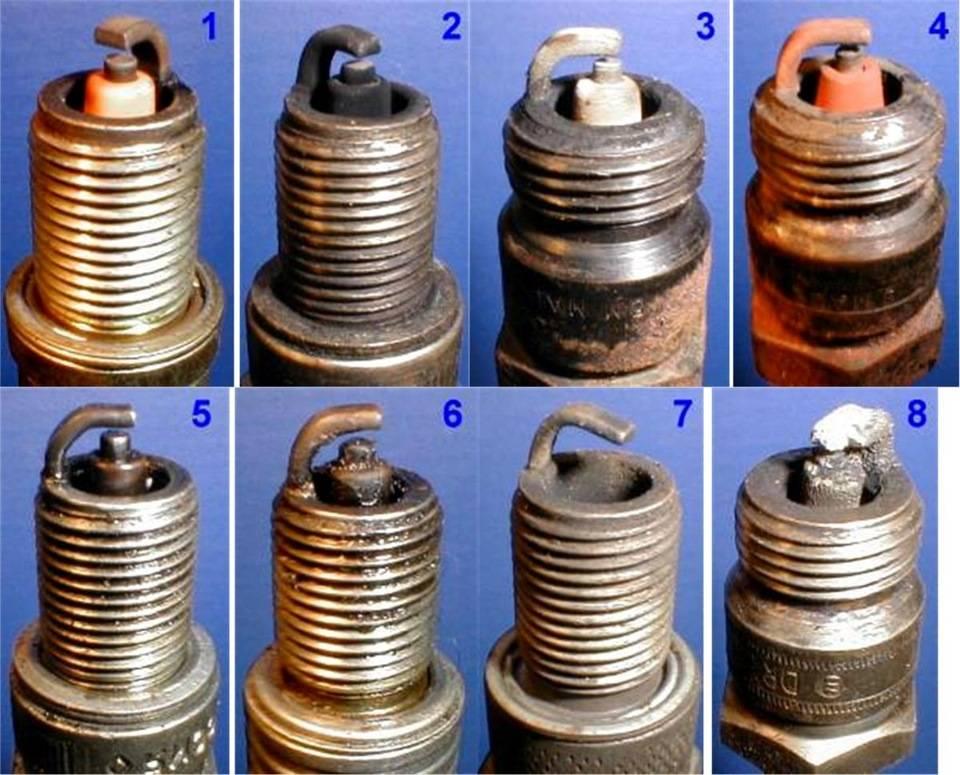 Причины нагара на свечах зажигания. с чем связано образование черного, красного и белого нагара на свечах?
