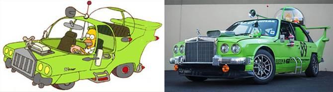 Реальные прототипы машин из «симпсонов»&nbsp. cимпсономания: пять жутких автомобилей, которые мог придумать только гомер симпсон на какой машине ездит гомер симпсон