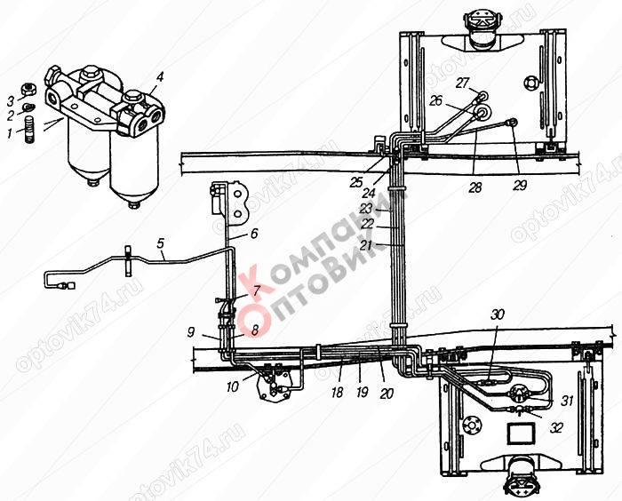 Тормозной кран камаз: схема подключения, ремонт, регулировка, как заменить