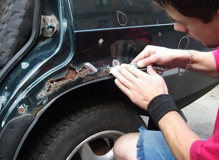 Как и чем убрать ржавчину с кузова автомобиля своими руками (инструкция + видео)