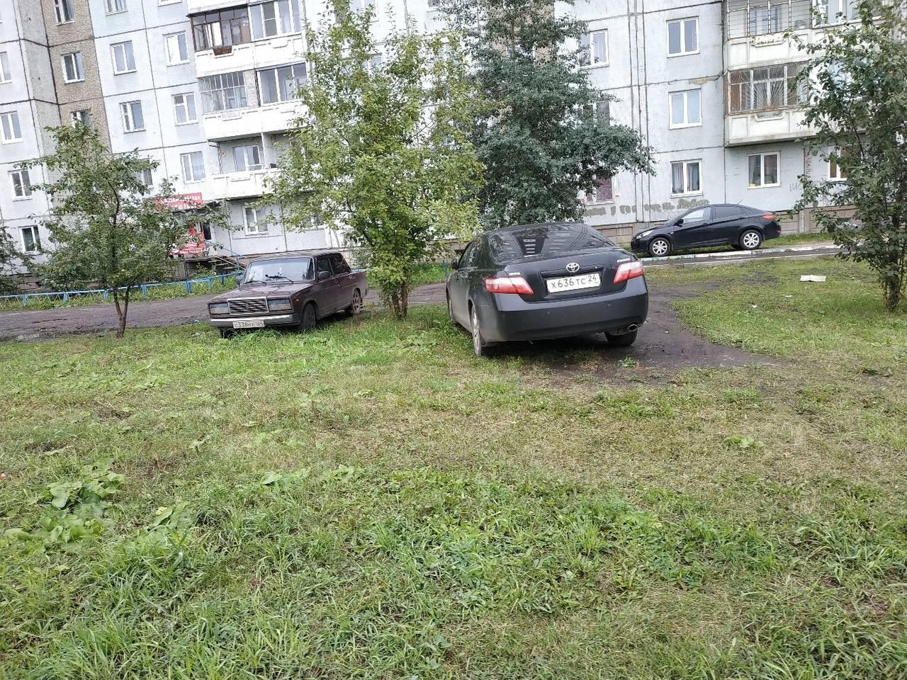 За парковку на газоне будут штрафовать