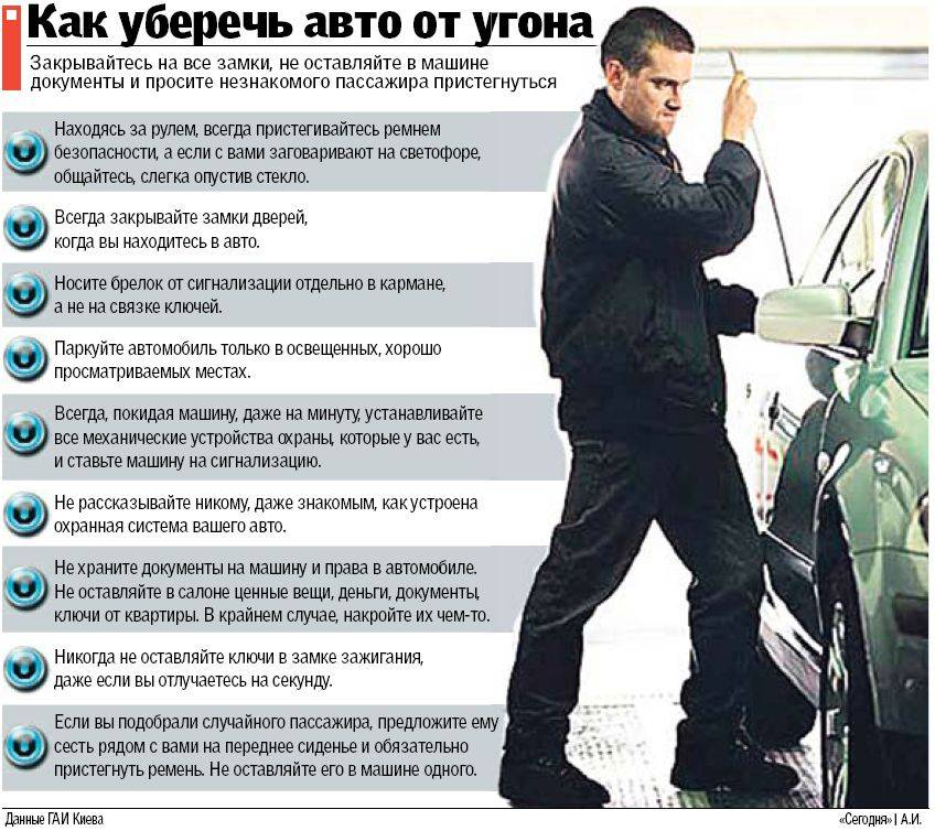 Предотвращение угона автомобиля: 5 проверенных способов
