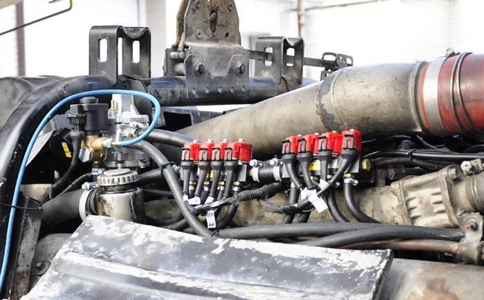 Дизельный двигатель на метане
