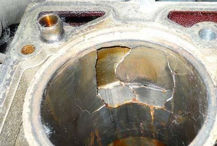 Лопнула гильза в двигателе