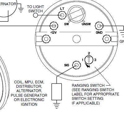 Как подключить тахометр к генератору на машине