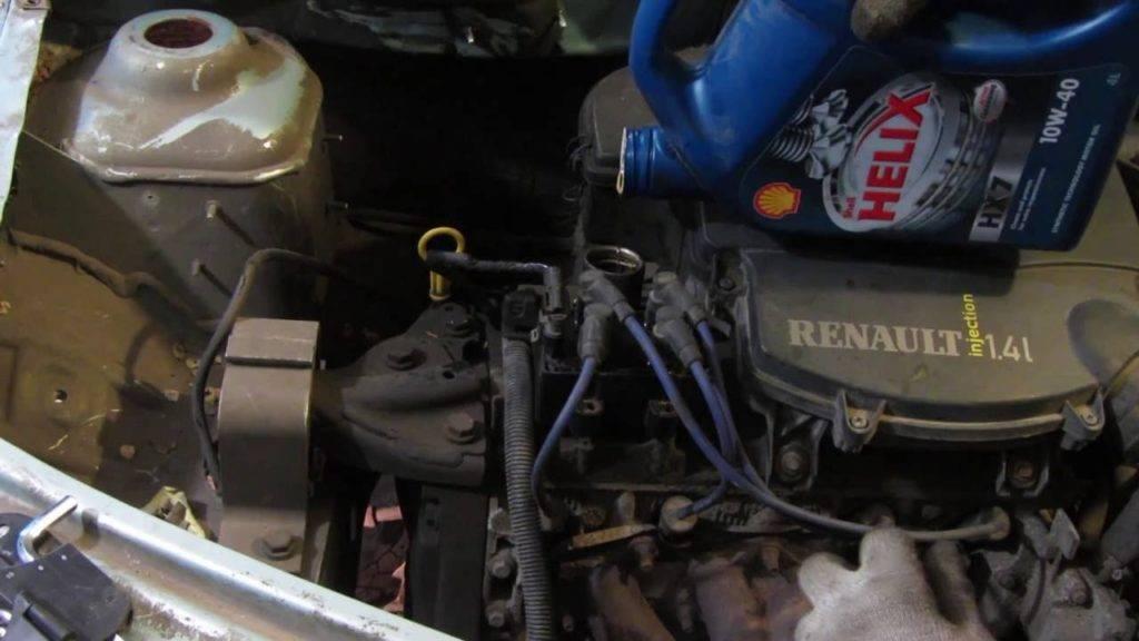 Замена масла в рено логан: двигатель 1,4/1,6/ восемь и шестнадцать клапанов