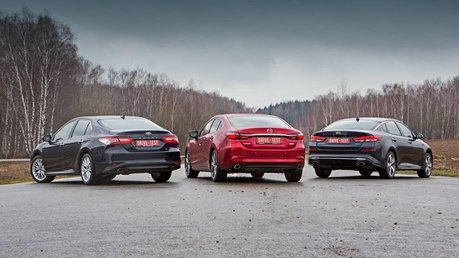 Когда не хватает на пятый BMW: сравнение KIA Optima IV и Mazda 6 III (первый рестайлинг)
