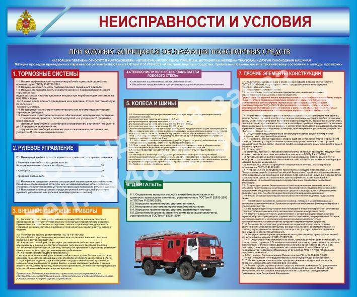 Перечень неисправностей и условий, при которых запрещается эксплуатация транспортных средств пдд 2020