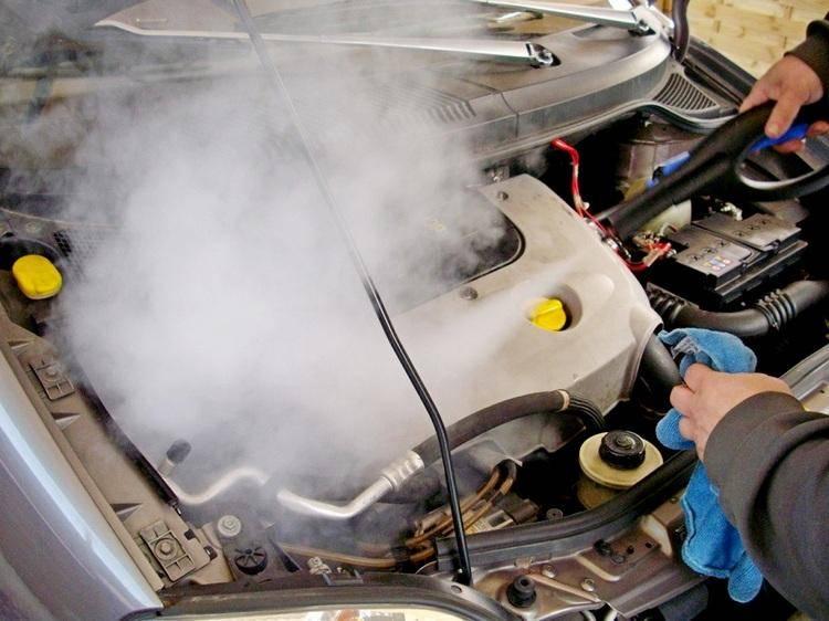 Паровая мойка двигателя — суть и особенности