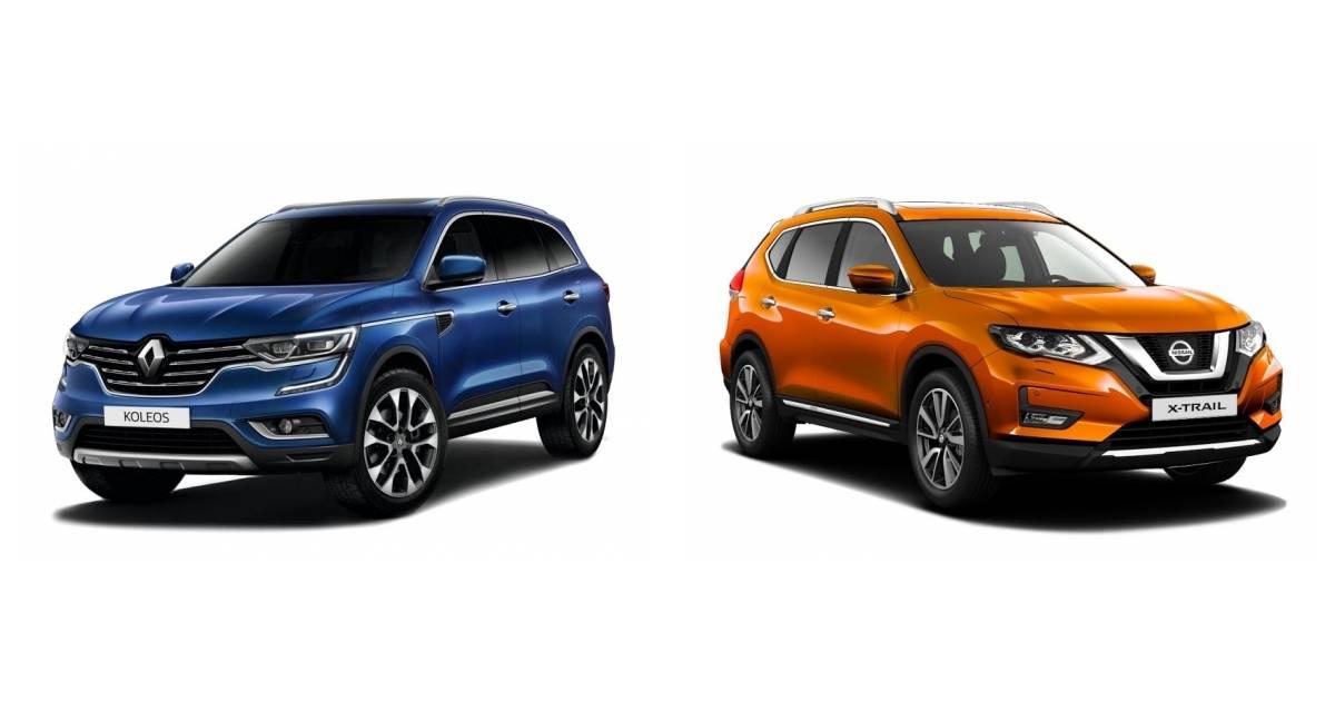 Renault koleos или nissan x-trail: сравнение кроссоверов — «середнячков»