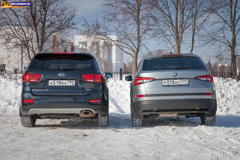 Семиместные семейники: выбираем между дизельными KIA Sorento Prime III и Skoda Kodiaq I