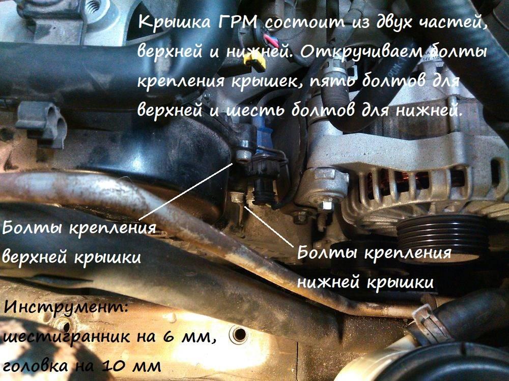 Фотоотчет о замене ремня грм на vortex tingo двигатель acteco 1.8 литра (плюс видео)