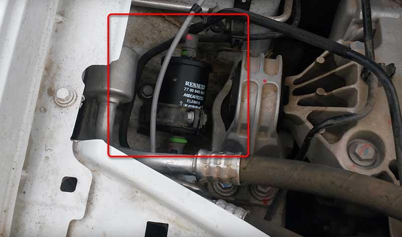Замена топливного фильтра рено дастер самостоятельно