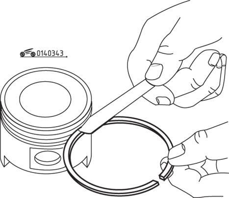 Установка наборных маслосъемных колец