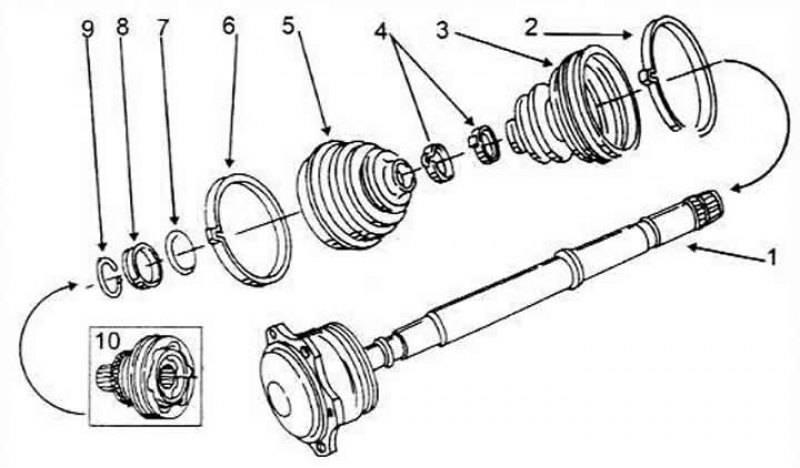 Как заменить внутренний и наружний шурс на ауди а6 с5