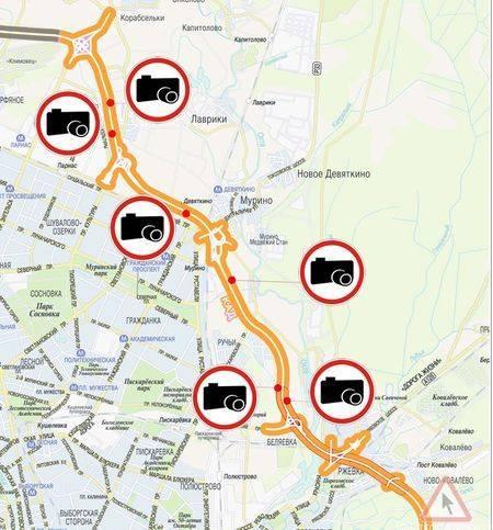 Карта радаров и камер видеофиксации в ярославле
