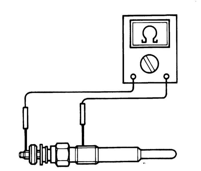 Быстрая проверка свечей накаливания. как проверить свечи дизельного двигателя лампочкой или тестером не снимая их