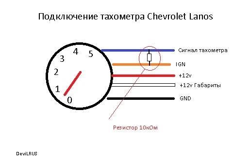 Как подключить тахометр к автомобилю