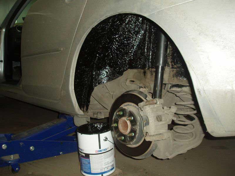 Шумоизоляция арок колес автомобиля своими руками