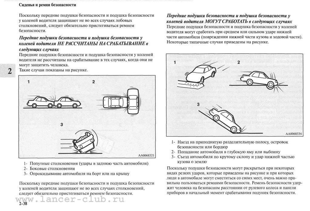 Как срабатывают подушки безопасности автомобиля