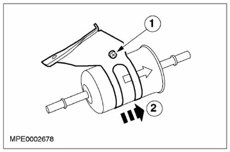 Топливный фильтр форд фокус 2 легко заменить на дизельной модели