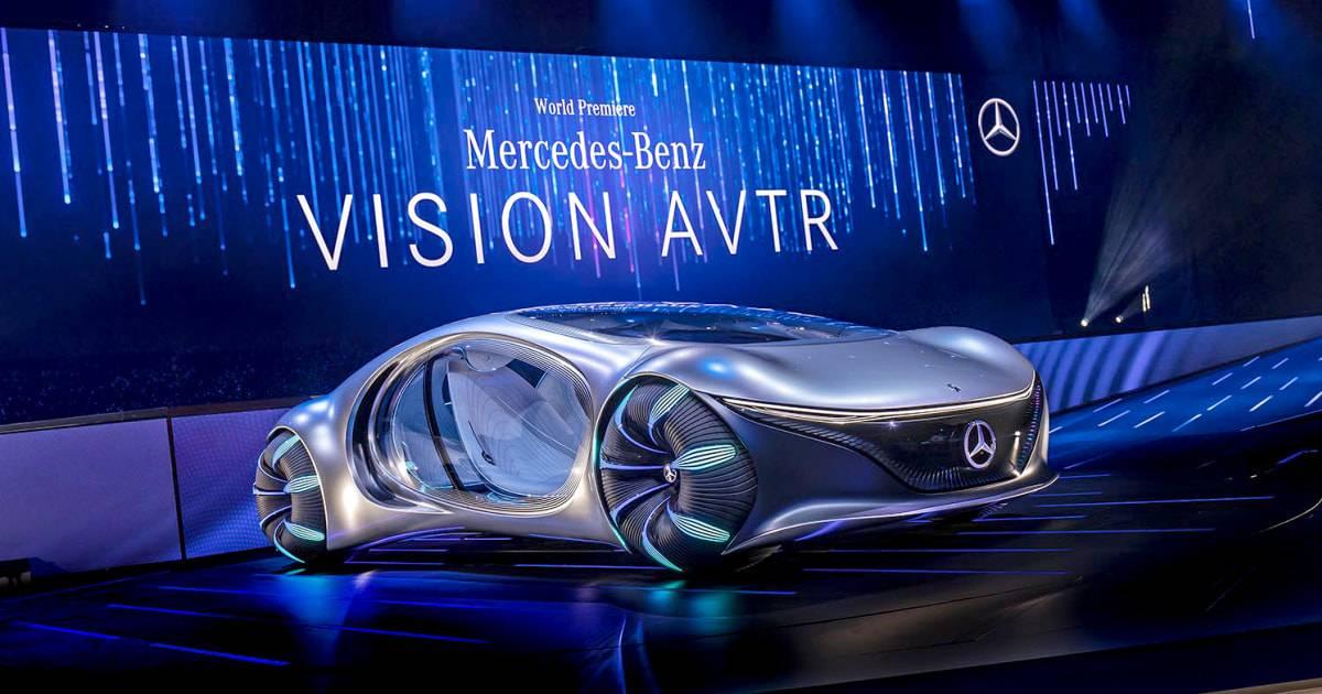 Mercedes-benz vision avtr симбиотический концепт из аватара