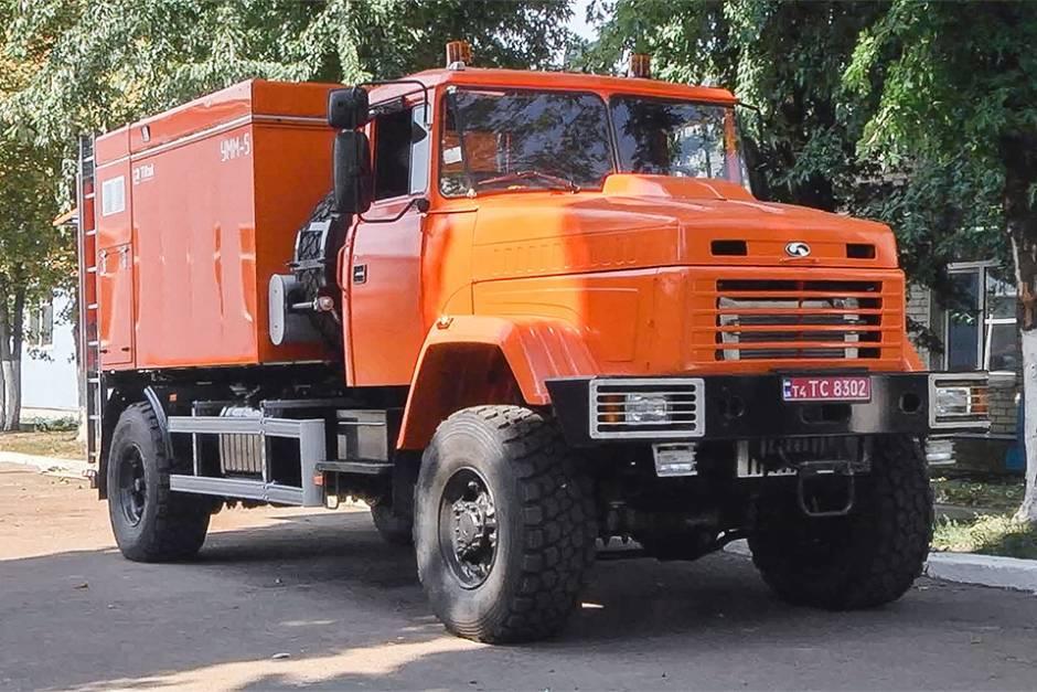 В кременчуге выпустили новую версию пожарного краз-5401не