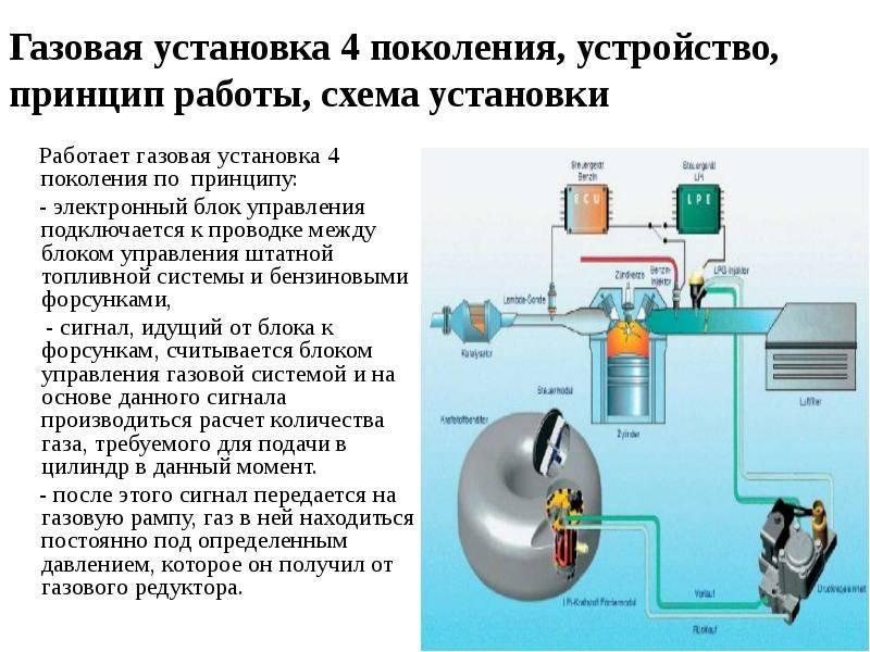 Газовая установка 4 поколения, устройство, принцип работы, схема установки