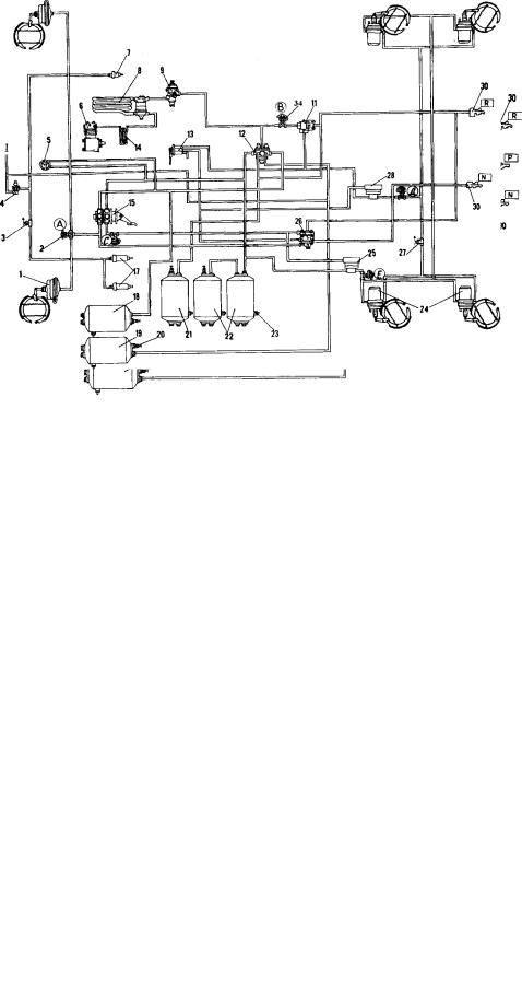 Устройство тормозных систем (разделение на контуры) автомобилей камаз 5320 (4310) ⋆ ремонт автомобилей