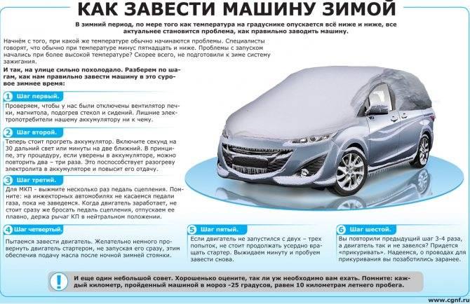 Как завести машину в мороз: эффективные способы