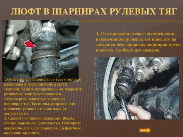 Когда пора менять рулевые тяги и наконечники? главные признаки поломок