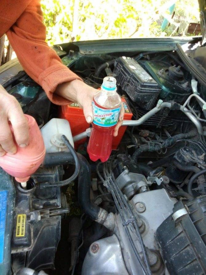 Как и чем промыть систему охлаждения двигателя.