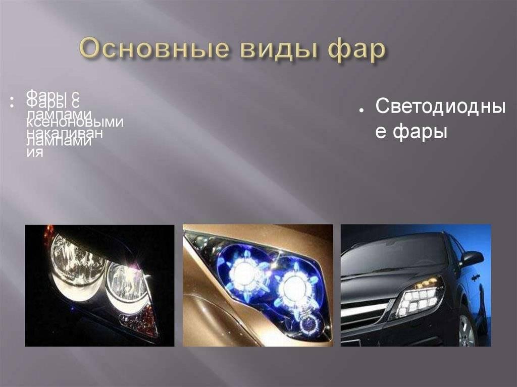 Автомобильные фары: светодиодные, галогенные, ксеноновые, лазерные и фары будущего