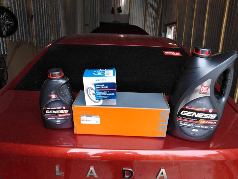 Lada vesta 1.6, 1.8 масло для двигателя — сколько и какое нужно заливать