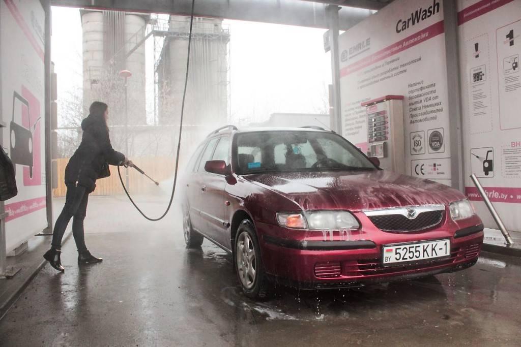 Мойка самообслуживания зимой — как мыть машину?