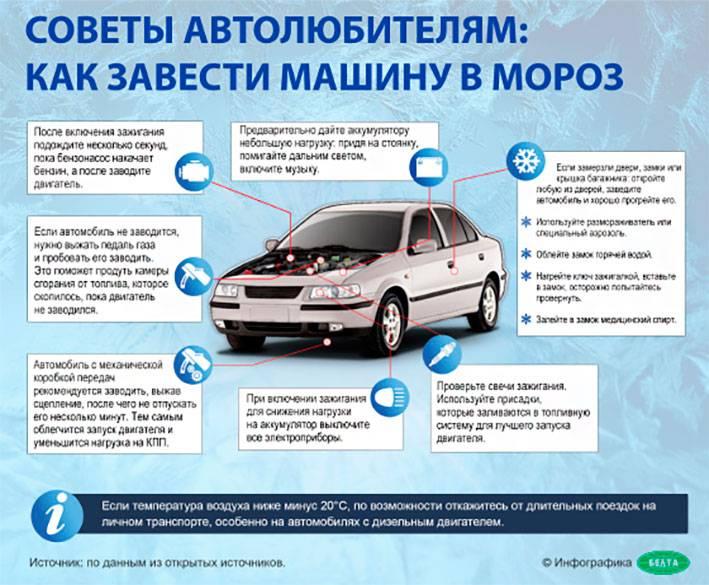 8 простых советов как правильно завести замерзшую машину в сильный мороз минус 20-30
