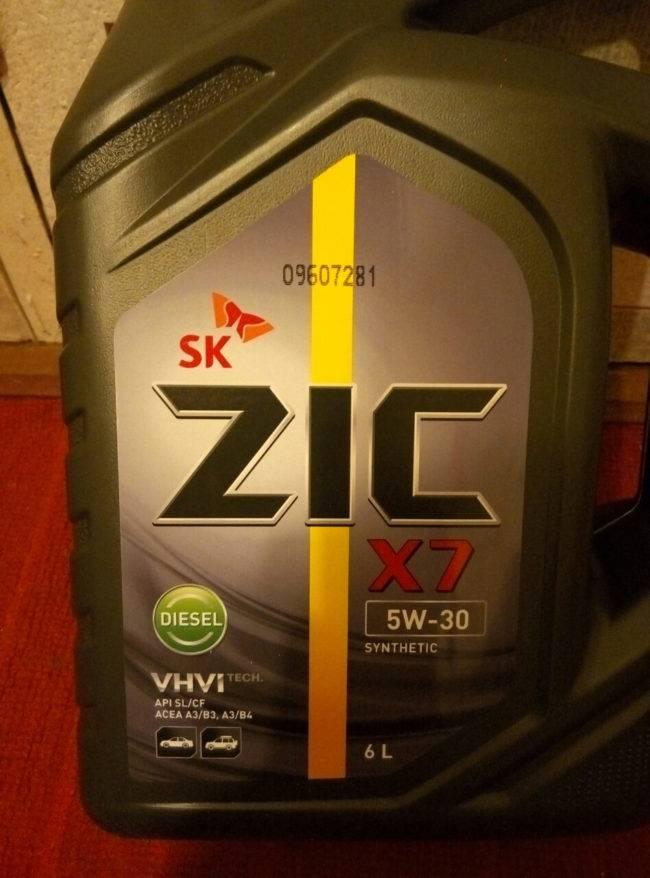 Синтетическое моторное масло zic 5w40