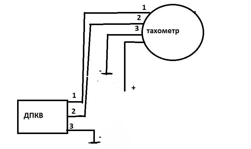 Схема подключения тахометра на дизельном двигателе