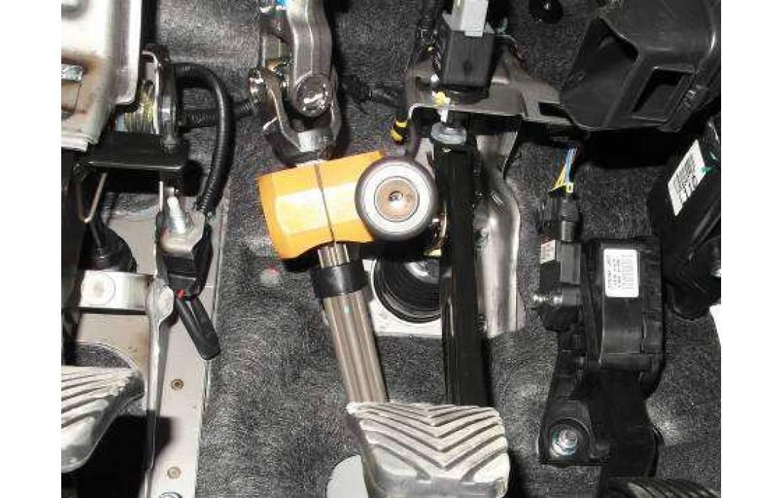 Описание блокиратора рулевого вала и его установка
