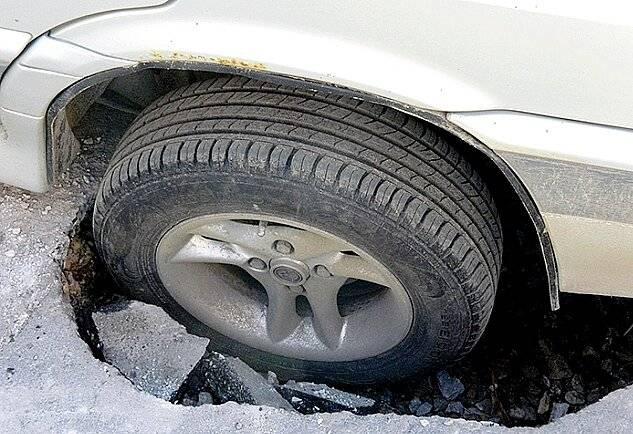 Пробил колесо в яме – что делать