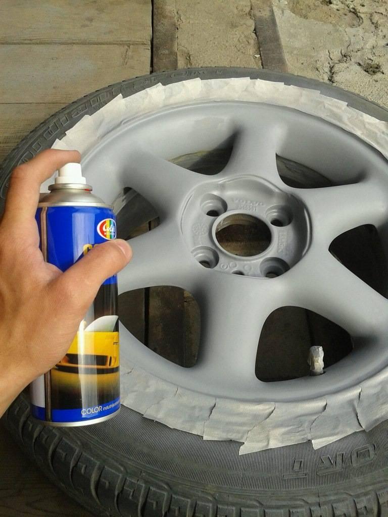 Как покрасить диски авто своими руками баллончиком без помощи специалистов
